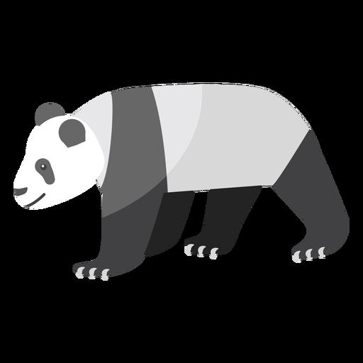 Panda punto hocico gordo plano Transparent PNG