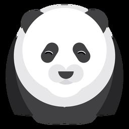 Ponto de panda focinho gordo arredondado geométrico