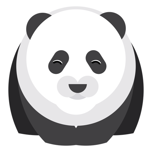 Panda punto hocico gordo redondeado geométrico Transparent PNG