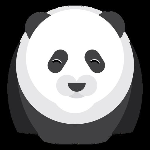 Panda spot muzzle fat flat rounded geometric Transparent PNG