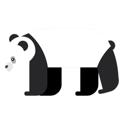 Focinho de panda plana arredondada geométrica