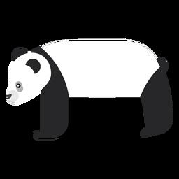 Panda spot muzzle flat rounded geometric