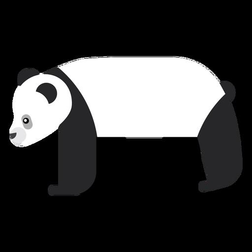 Focinho de panda plana arredondada geométrica Transparent PNG