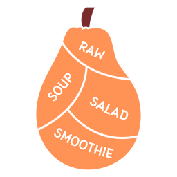 Papaya raw soup salad smoothie flat