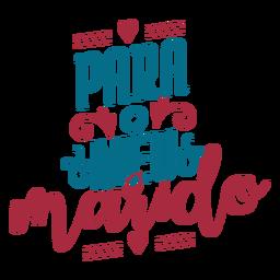 Para o meu masido texto em português adesivo coração
