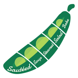Gedünsteter gedünsteter Salat der Erbsen-Suppe backen flach