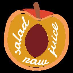 Suco de salada de pêssego cru plana