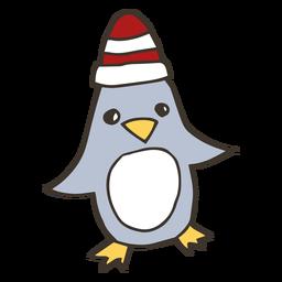 Esboço de bico de asa de chapéu de pinguim