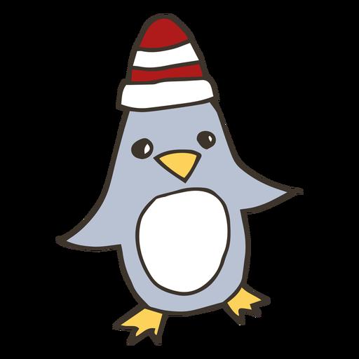 Dibujo de pico de ala de sombrero de pingüino