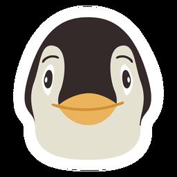Pegatina plana pico cabeza de pingüino