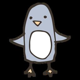 Pájaro del bosquejo del pico del ala del pingüino