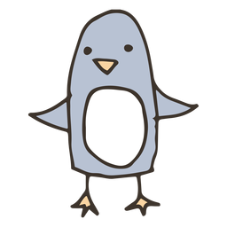 Penguin wing beak sketch bird