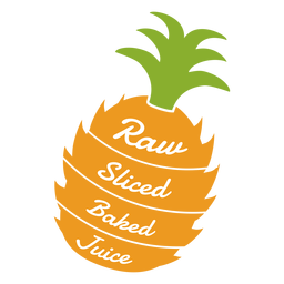 Pineapple raw sliced baked juice flat