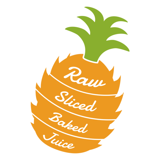 Pineapple raw sliced baked juice flat Transparent PNG