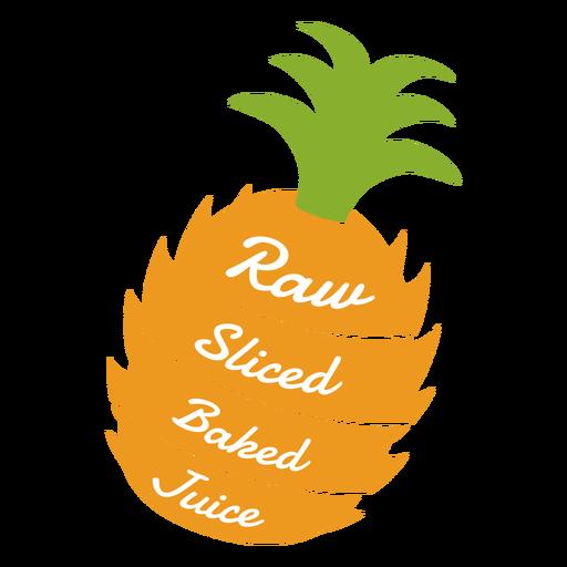 Pineapple raw sliced baked juice flat