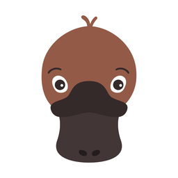 Pegatina plana ojo de pico de pato platypus