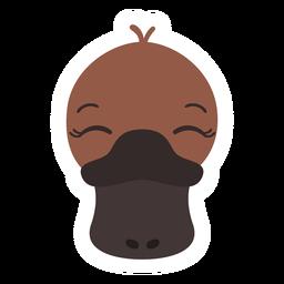 Pegatina plana pestañas pico de pato platypus
