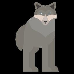 Cauda de lobo predador plana arredondada geométrica