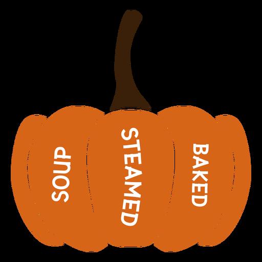 Pumpkin soup steamed baked flat Transparent PNG