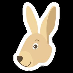 Pegatina plana conejito conejo oreja bozal