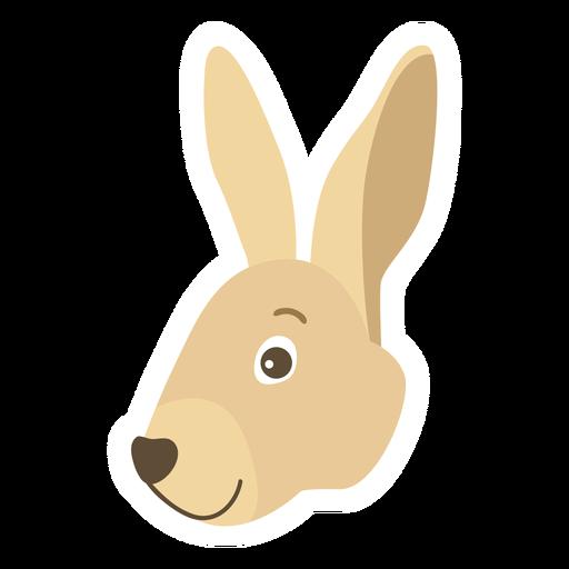 Pegatina plana conejito conejo oreja bozal Transparent PNG