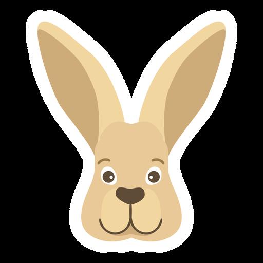 Etiqueta engomada plana de la cabeza del bozal de la oreja del conejito del conejo Transparent PNG