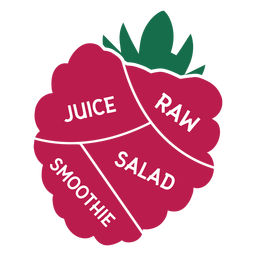 Raspberry raw juice salad smoothie flat