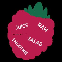 Smoothie de salada de suco cru de framboesa