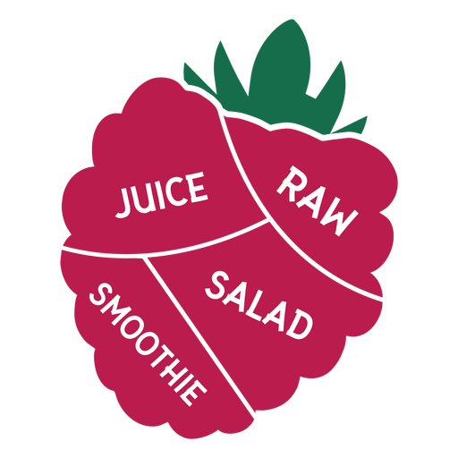 Smoothie de salada de suco cru de framboesa Transparent PNG