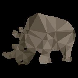 Chifre de rinoceronte rinoceronte gordura baixo poli