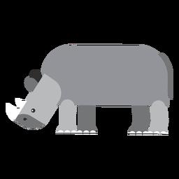 Nashorn Nashorn Fett flach abgerundet geometrisch