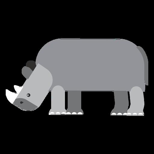 Rhino rhinoceros fat flat rounded geometric Transparent PNG