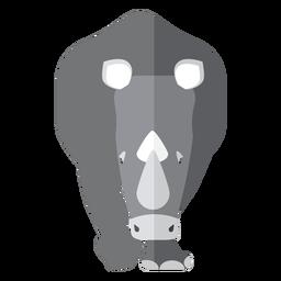 Nashorn-Nashorn-Hornfett flaches Tier