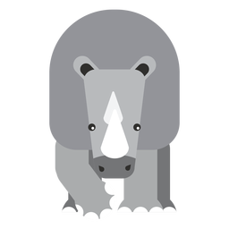 Nashorn Nashorn Hornfett flach abgerundet geometrisch