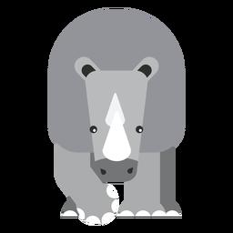 Rinoceronte rinoceronte cuerno gordo redondeado geométrico