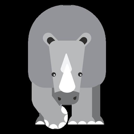 Rinoceronte, rinoceronte, chifre, gorda, apartamento, arredondado, geomã Transparent PNG