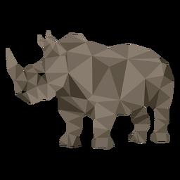 Rinoceronte rinoceronte chifre baixo poli