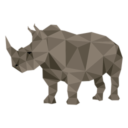 Rinoceronte rinoceronte cuerno gordo bajo poli