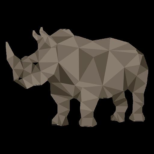 Rhino rhinoceros horn fat low poly