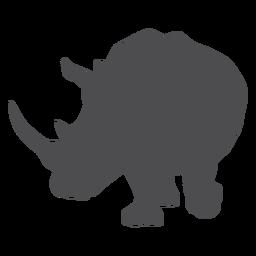 Rinoceronte rinoceronte cuerno gordo silueta animal