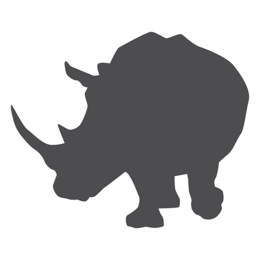 Rhino rhinoceros horn fat silhouette animal Transparent PNG