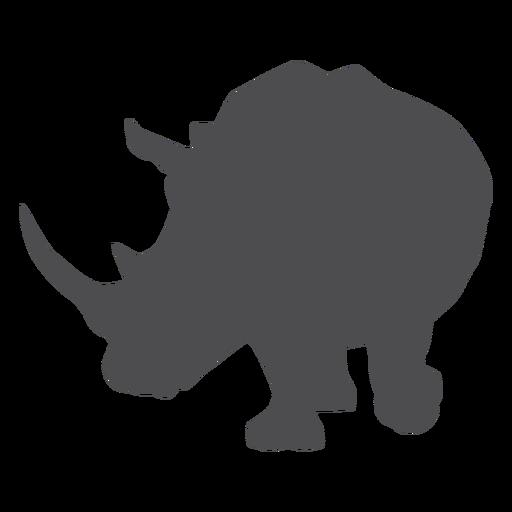 Rinoceronte rinoceronte chifre gordo silhueta animal Transparent PNG