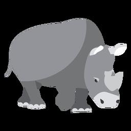 Rinoceronte rinoceronte cuerno gordo cola plana