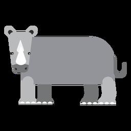 Rinoceronte rinoceronte cola cuerno gordo redondeado geométrico