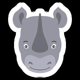 Pegatina plana rinoceronte cuerno rinoceronte
