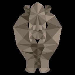 Rhinoceros rhino horn fat low poly