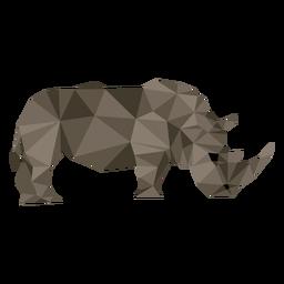 Rinoceronte rinoceronte cuerno gordo cola baja poli