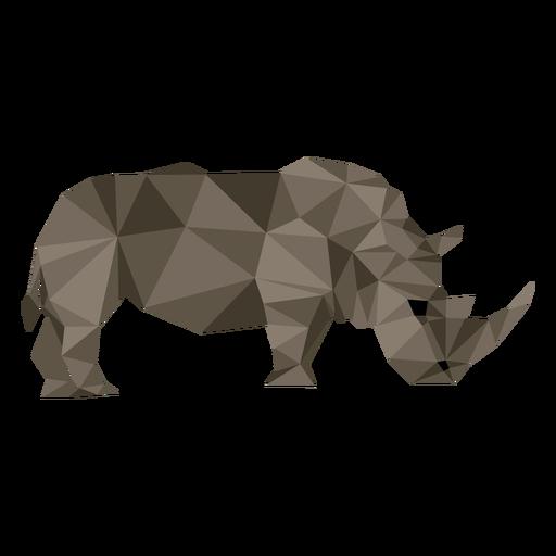 Rhinoceros rhino horn fat tail low poly