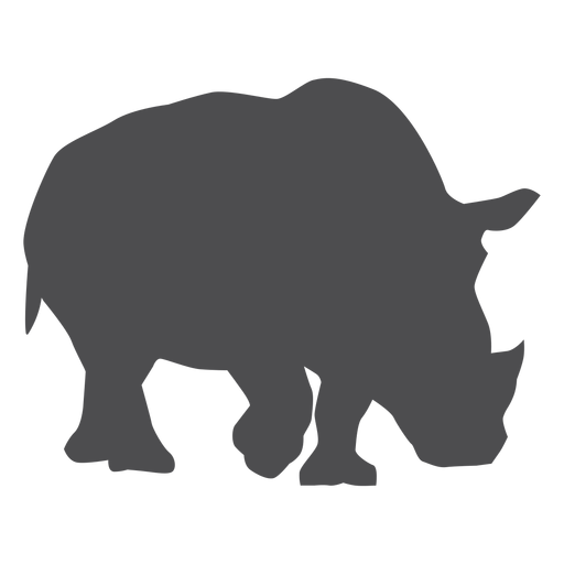 Rhinoceros rhino horn fat tail silhouette Transparent PNG