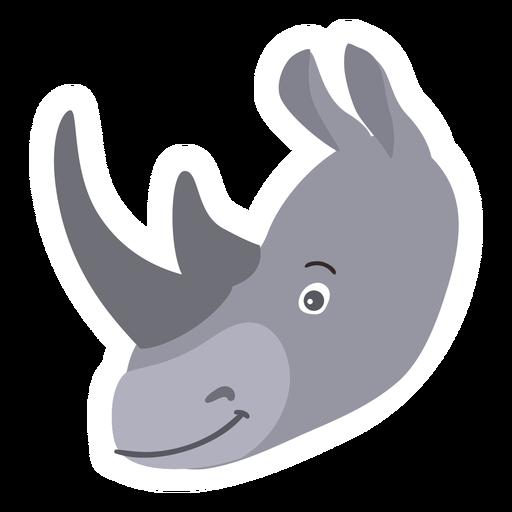Rhinoceros rhino horn flat sticker Transparent PNG